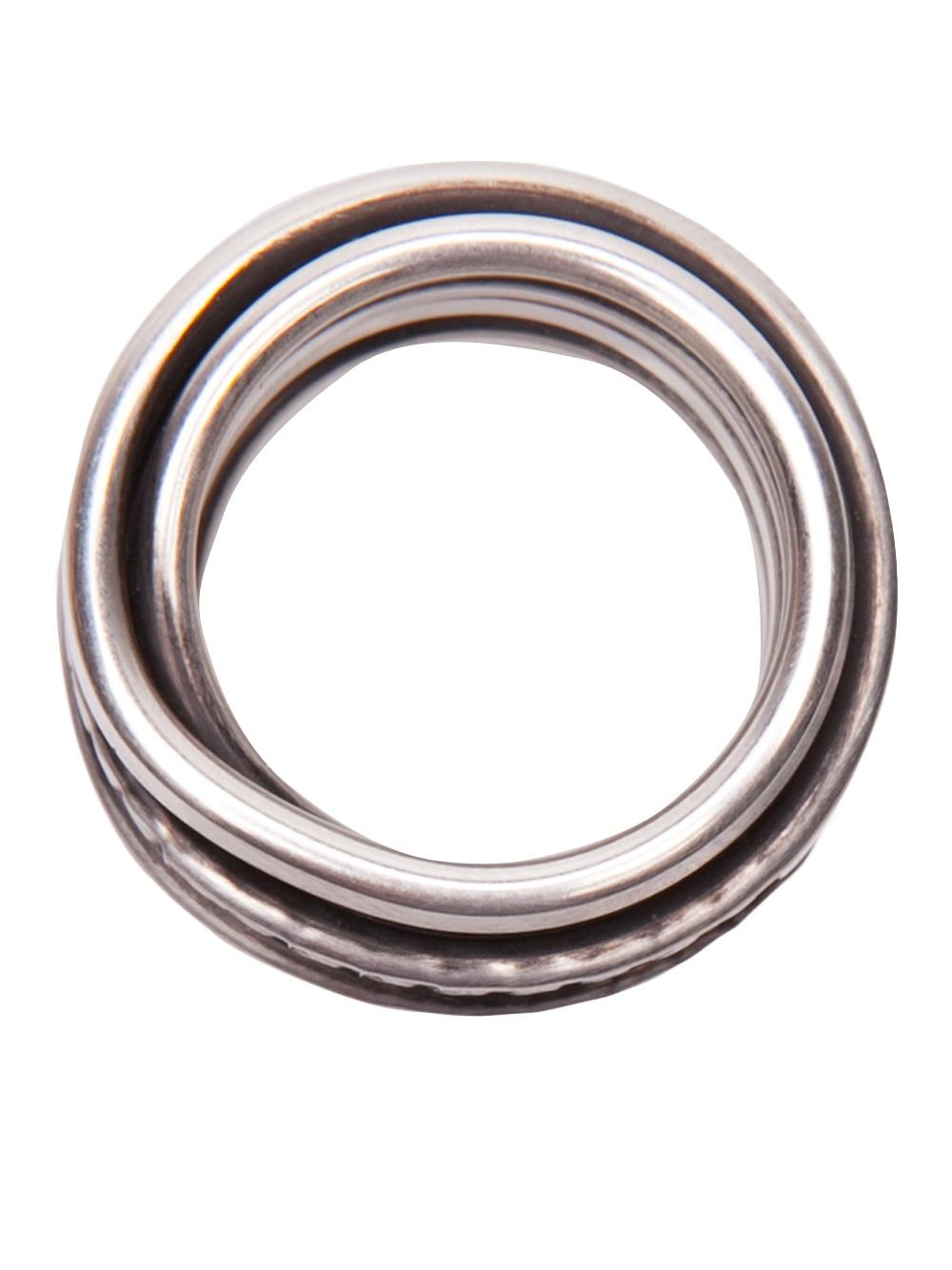 werkstatt m nchen punch round wound ring in metallic lyst. Black Bedroom Furniture Sets. Home Design Ideas