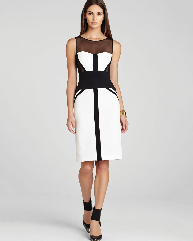 Lyst - Bcbgmaxazria Dress Reina Fitted Sleeveless in Black