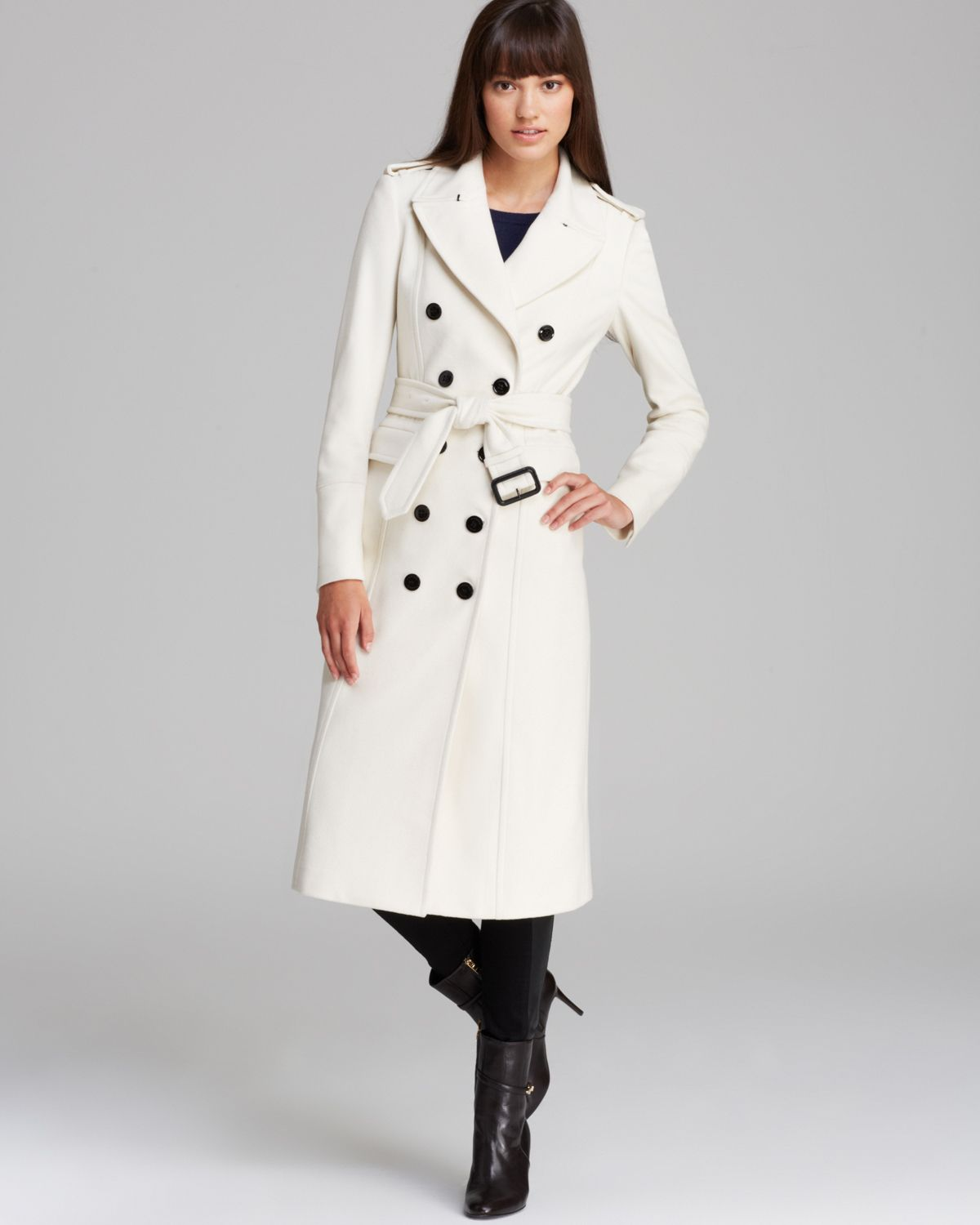 Womens white winter coat