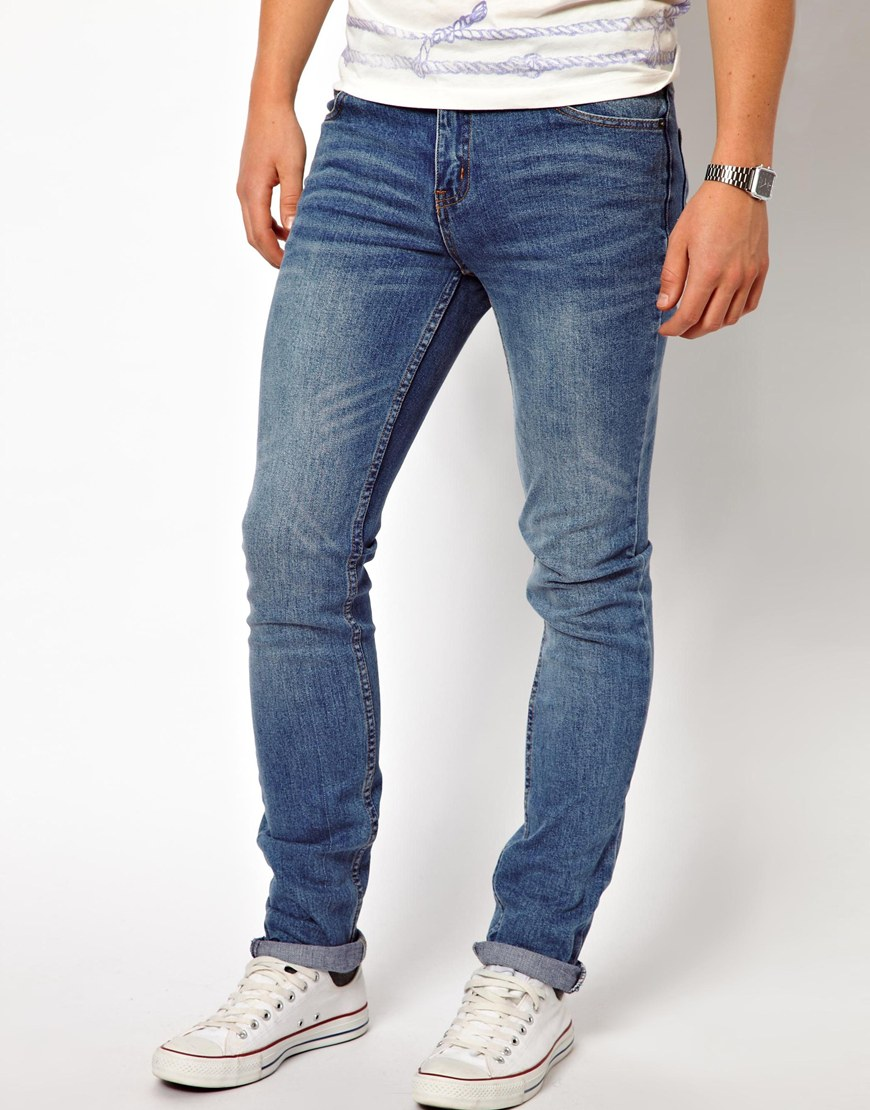 cheap monday jeans tight skinny fit in dark clean wash in blue for men lyst. Black Bedroom Furniture Sets. Home Design Ideas