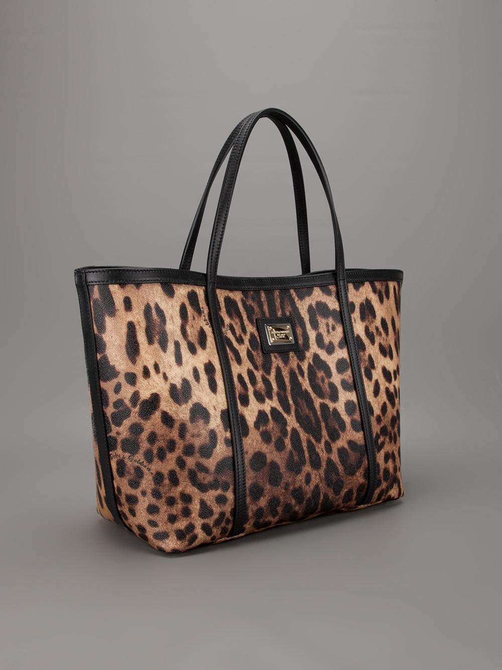 721727fd2806 Dolce & Gabbana Leopard Shopping Tote - Lyst