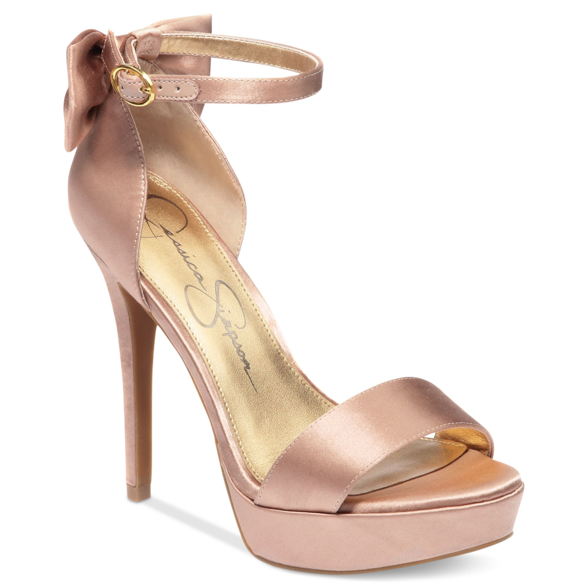 c2282fd6346c Lyst - Jessica Simpson Bowie Platform Dress Sandals in Pink
