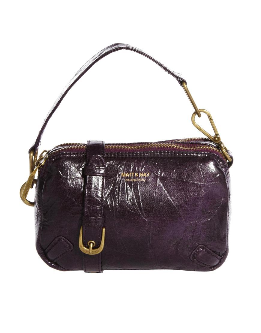 Lyst Matt Amp Nat Japanese Paper Clutch Bag In Purple