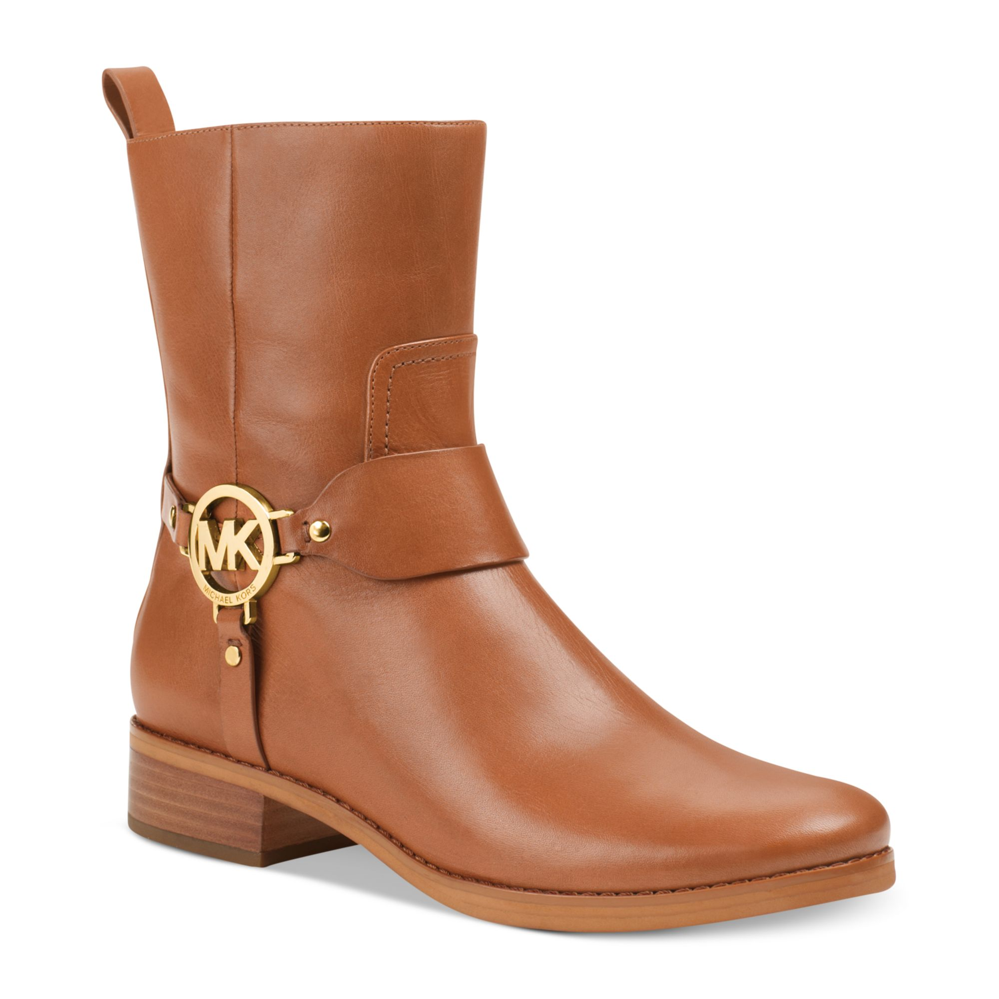 Michael Kors Fulton Harness Booties In Brown Luggage Lyst