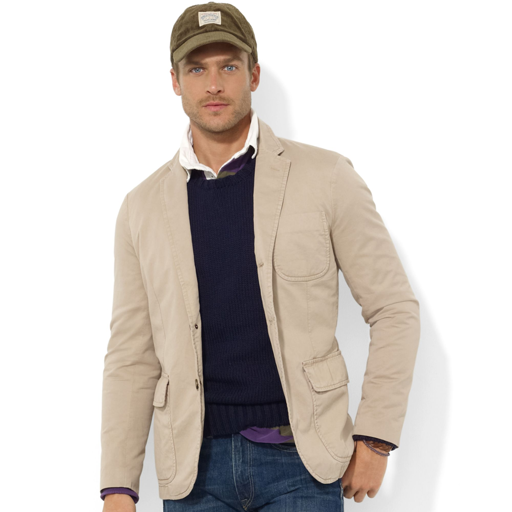 Ralph lauren Langley Chino Sport Coat in Natural for Men | Lyst