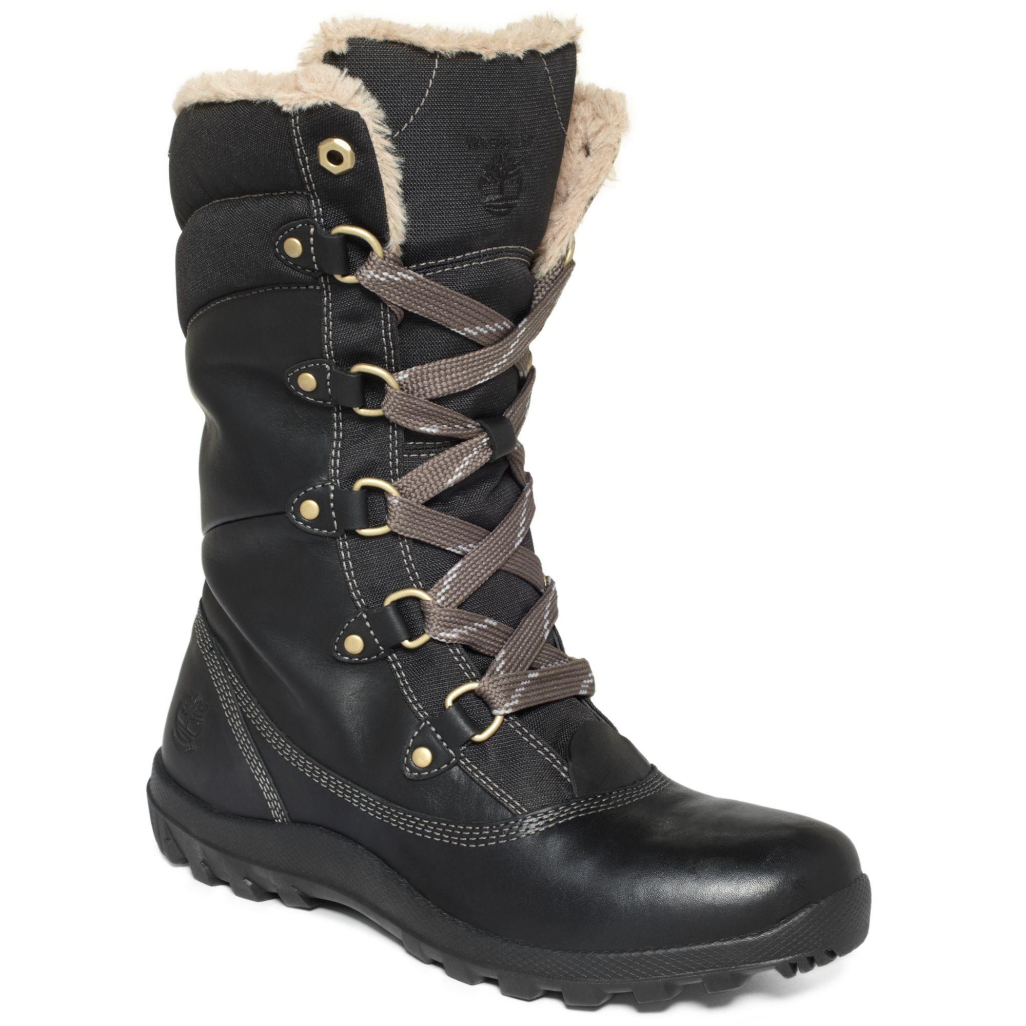 timberland women 39 s mount hope snow boots in black lyst. Black Bedroom Furniture Sets. Home Design Ideas
