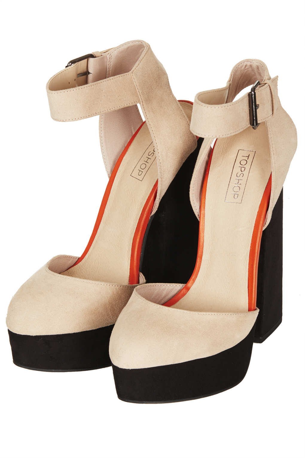 d0f8de641422 Lyst - TOPSHOP Shelly Cut-out Back Platforms in Natural