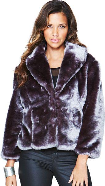 Little Mistress Little Mistress Short Faux Fur Coat In