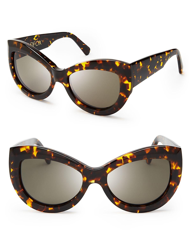 0934e1d1fc848 Lyst - Wildfox Kitten Sunglasses in Black