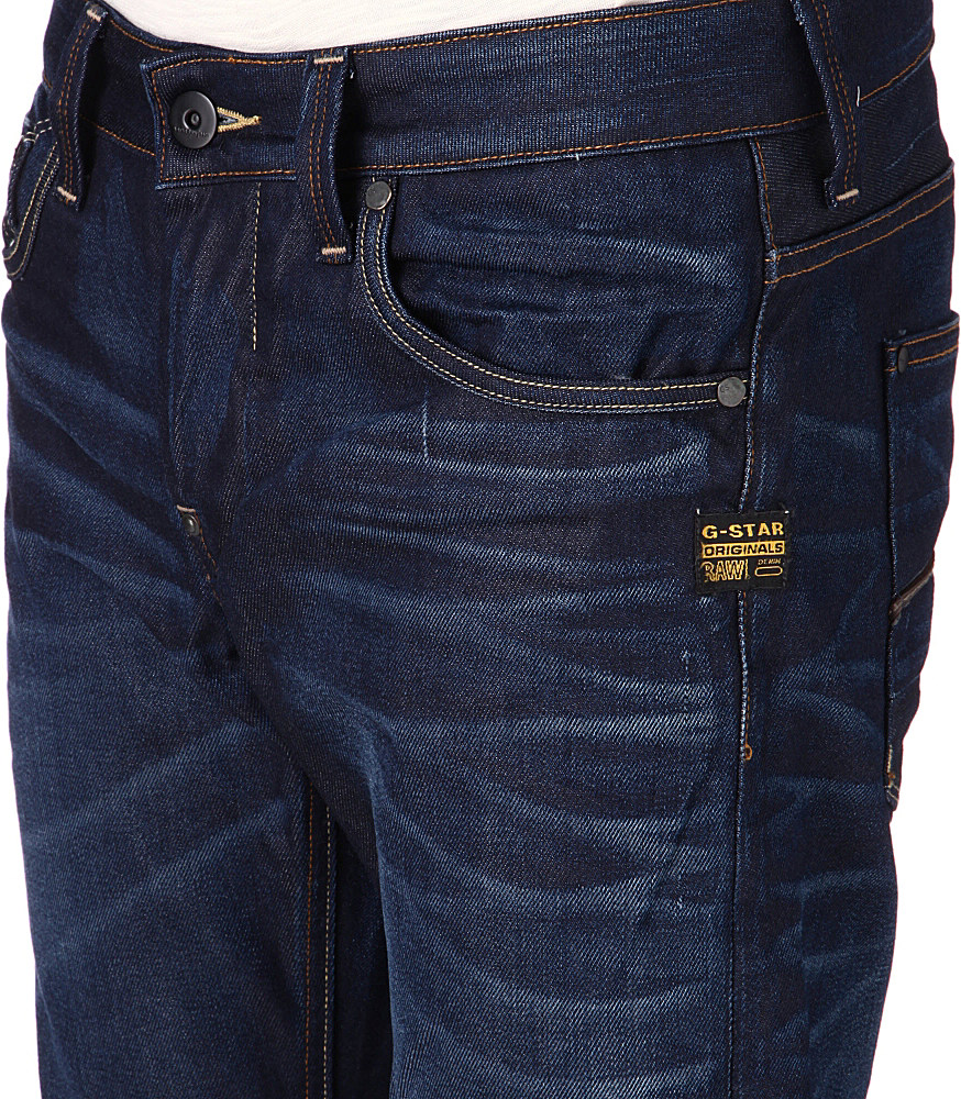 g star raw attacc low straight jeans in blue for men lyst. Black Bedroom Furniture Sets. Home Design Ideas