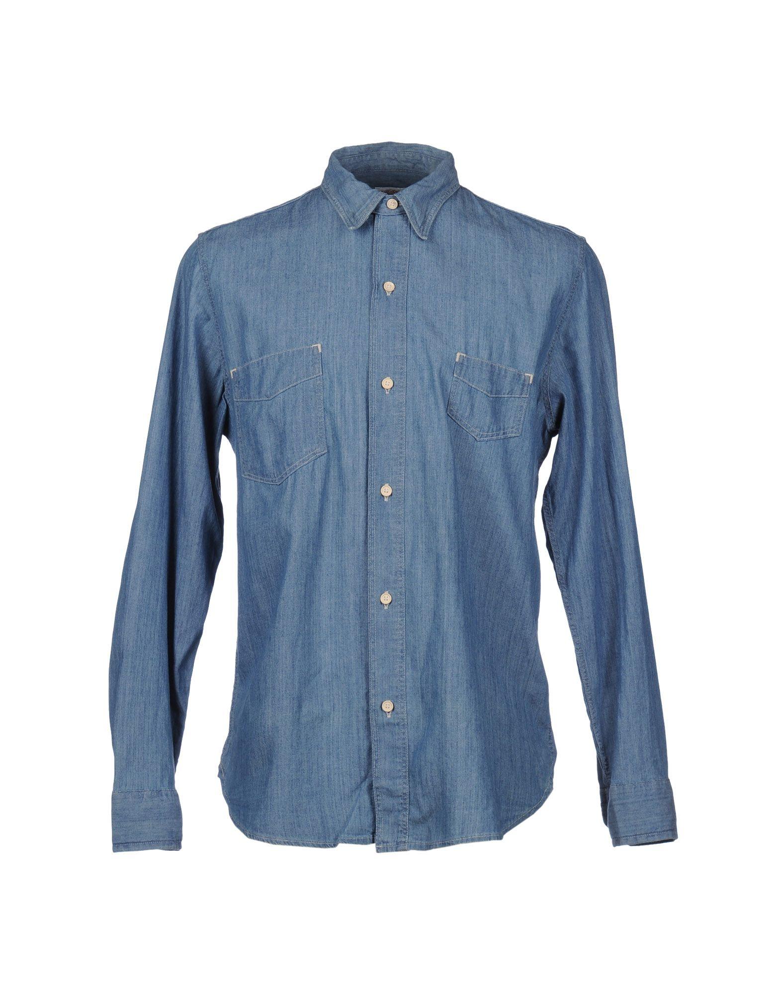 levi 39 s denim shirt in blue for men lyst. Black Bedroom Furniture Sets. Home Design Ideas