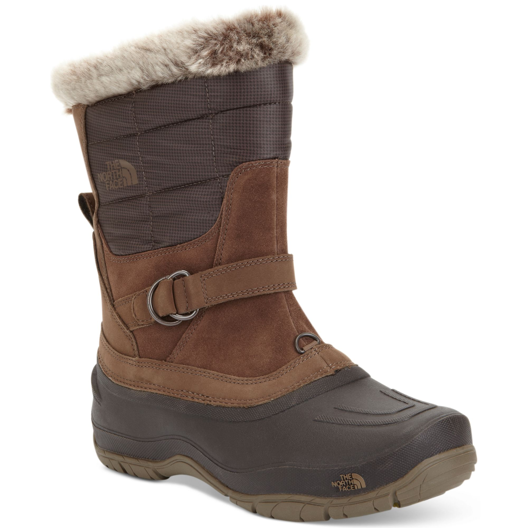 the north face shellista fauxfur pull on boots in brown. Black Bedroom Furniture Sets. Home Design Ideas