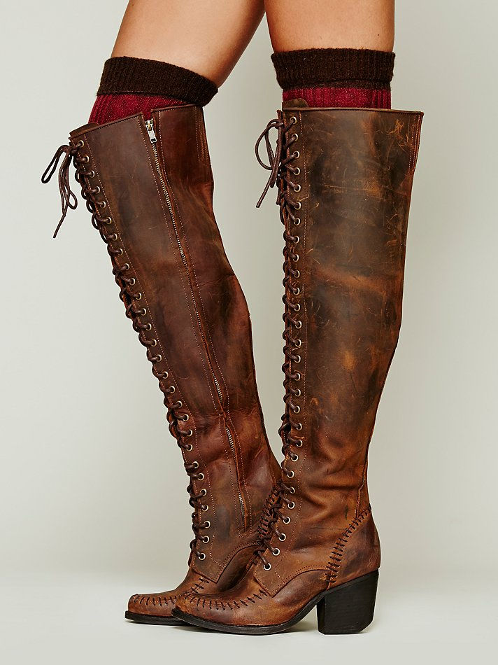Jeffrey Campbell James Lace Up Boot In Brown Chocolate