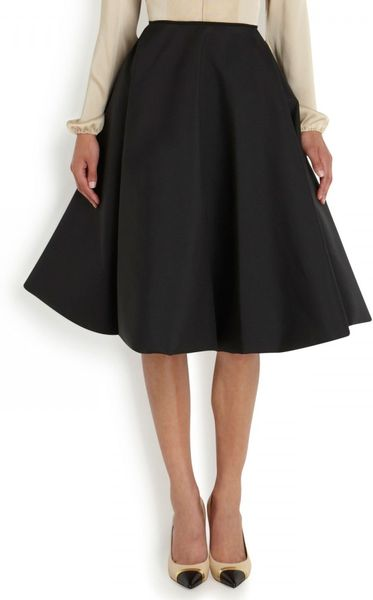 Available In Black High Rise Circle Skirt PU Fabric Elastic Waistband 16