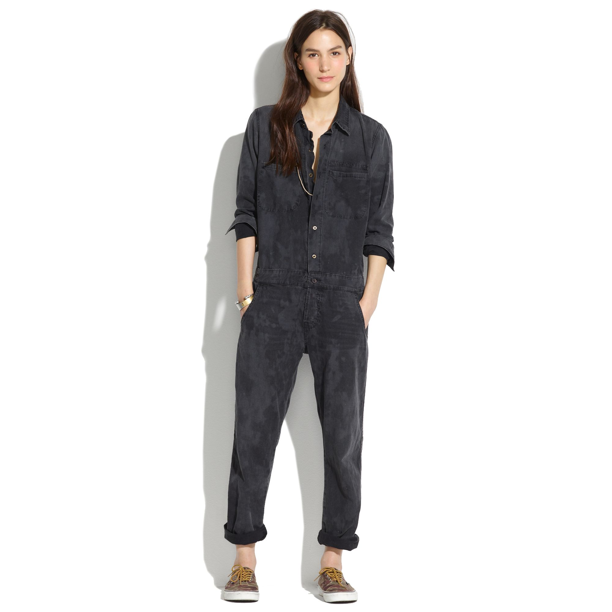 Lyst Madewell Mechanic Jumpsuit In Black
