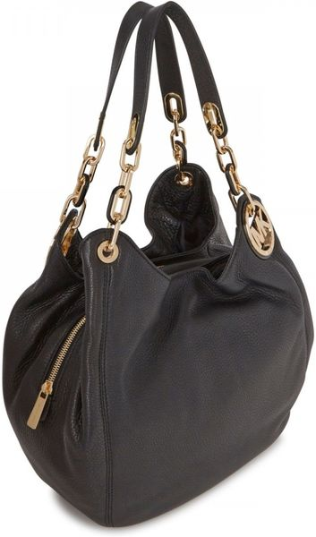 Sale Michael Kors Fulton Shoulder - Bags Michael Kors Fulton Grained Leather Shoulder Bag Black