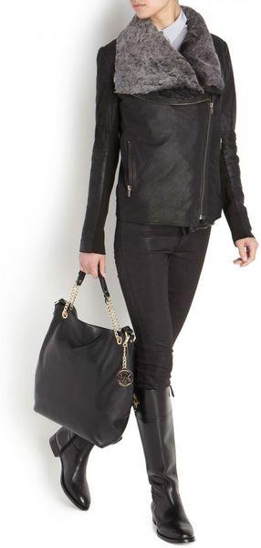 Czech Michael Kors Blake Shoulder - Large Black Jet Set Travel Shoulder Bag