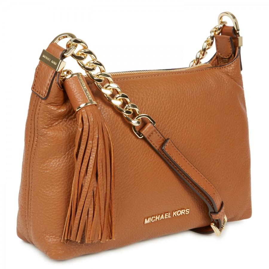 77f5fec30337 Michael Kors Weston Grained Leather Crossbody Bag in Brown - Lyst