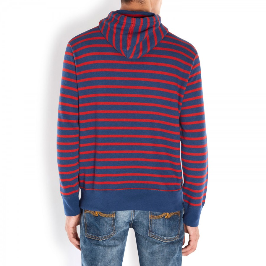 Polo Ralph Lauren Striped Sweatshirt Hooded Red .