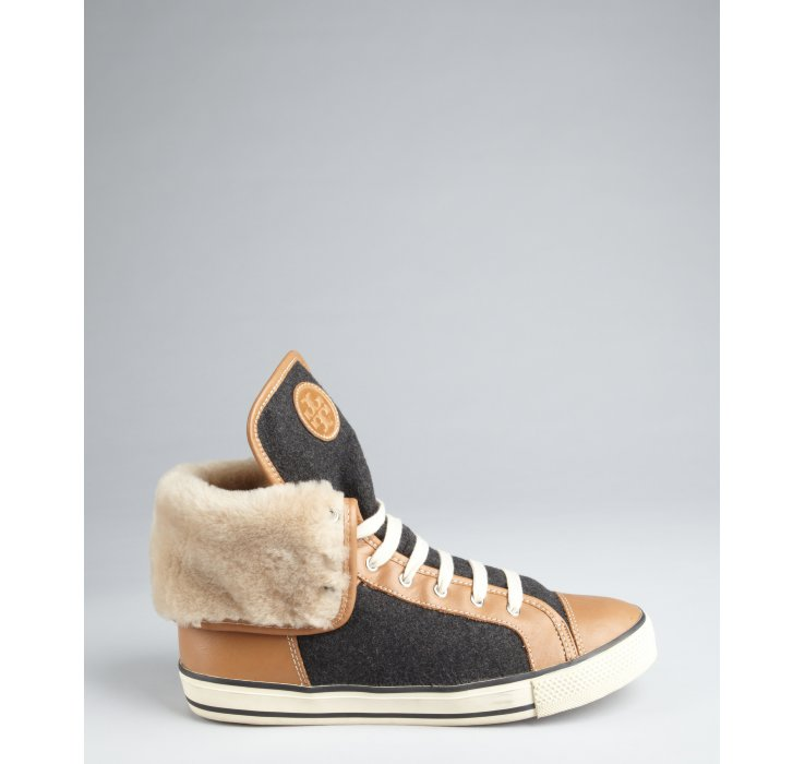 footaction cheap price huge surprise online Tory Burch Flannel Low-Top Sneakers shop for sale cost for sale outlet big sale mJGOEEG