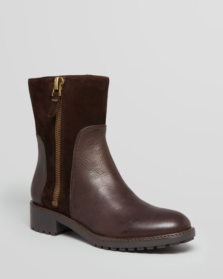 via spiga boots eartha flat in brown brown lyst