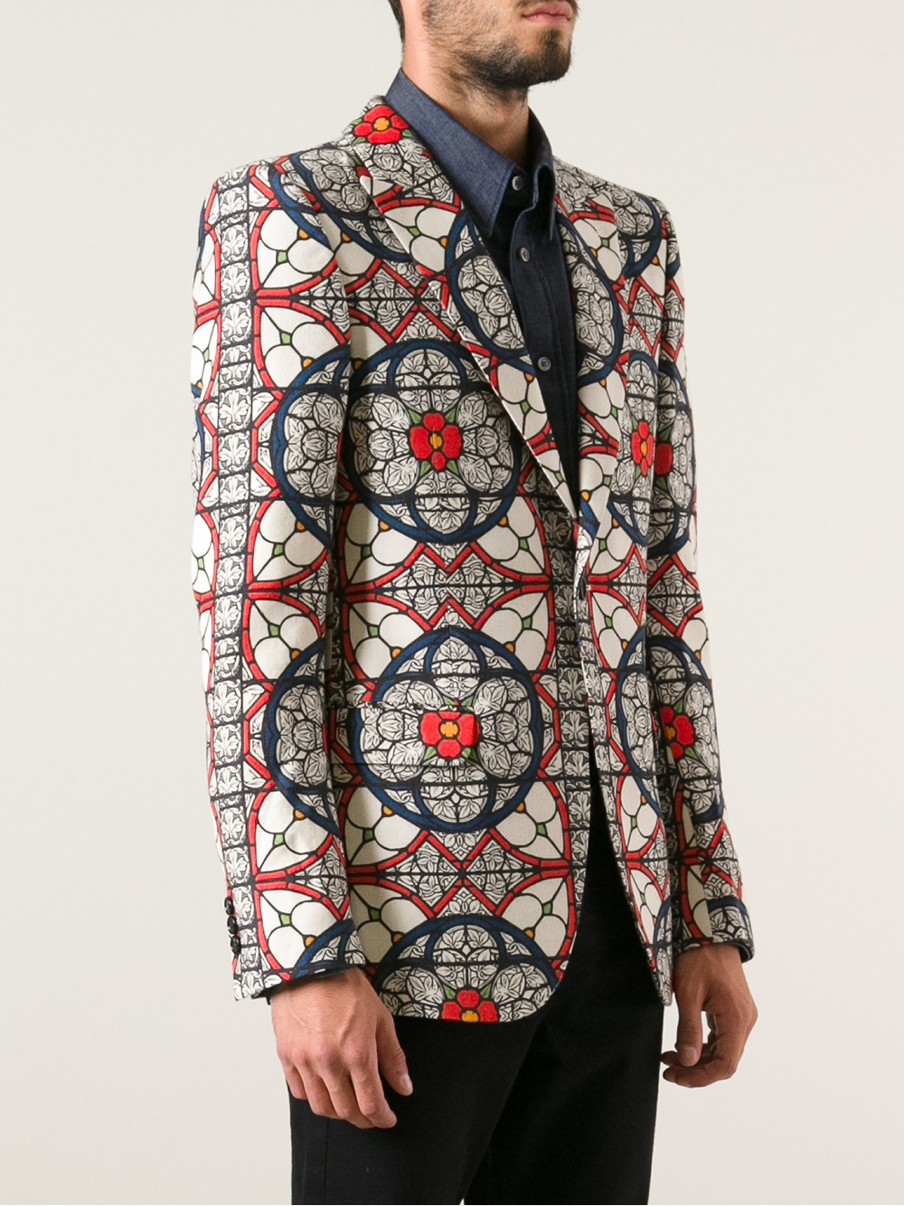 Alexander mcqueen Patterned Blazer for Men | Lyst