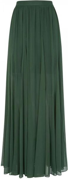 adme crinkled sheer chiffon maxi skirt in
