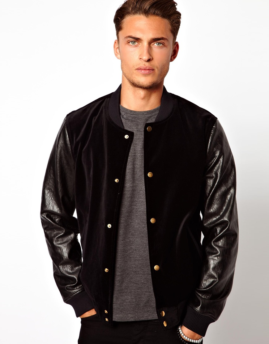 The ASOS Leather Bomber Jacket is an affordable timeless investment piece that will only get better with regular wear. Coming in a classic bomber silhouette and made from per cent black.