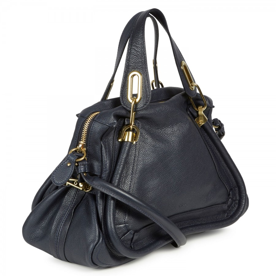 Chlo¨¦ Paraty Medium Grained Leather Shoulder Bag in Blue (navy) | Lyst