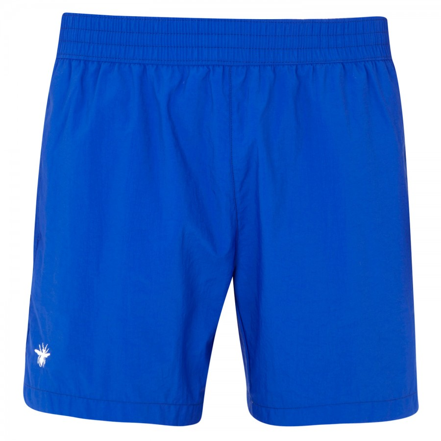 dior homme nylon swim shorts in blue for men lyst