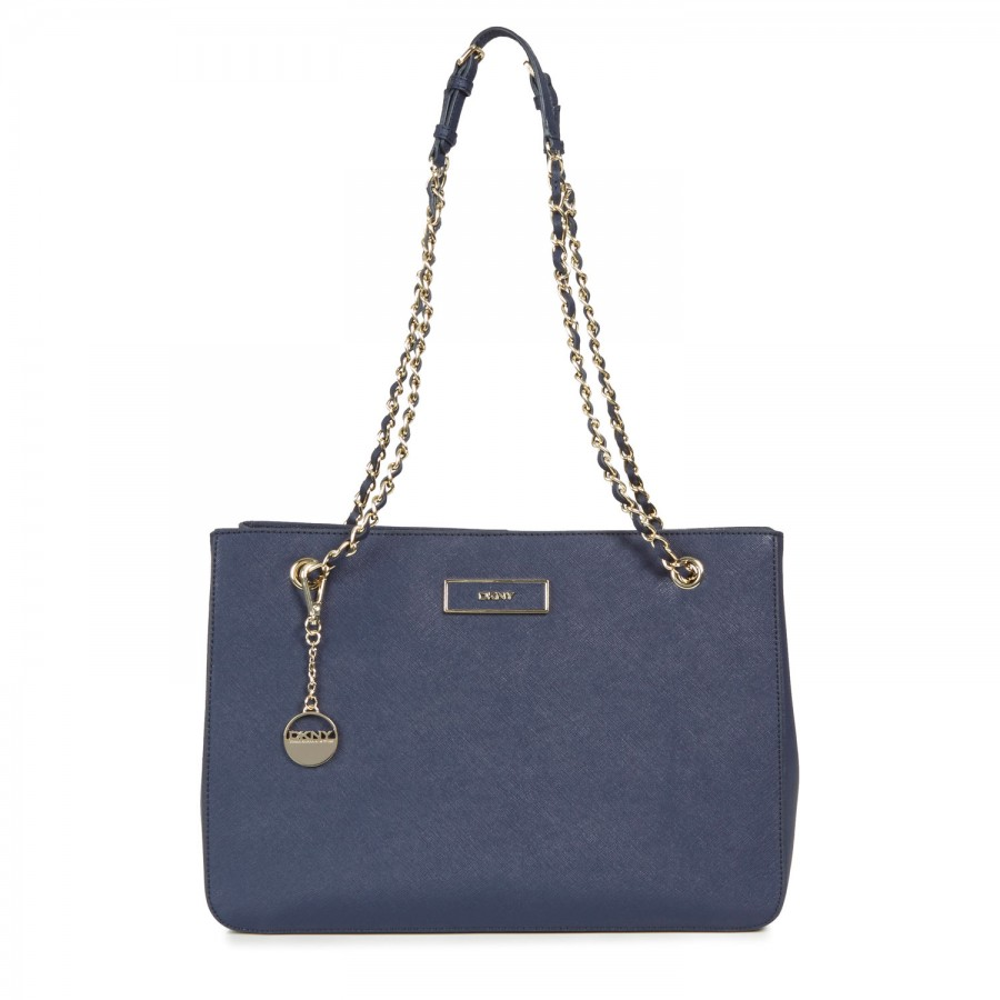 Dkny Saffiano Leather Shoulder Bag in Blue (navy)