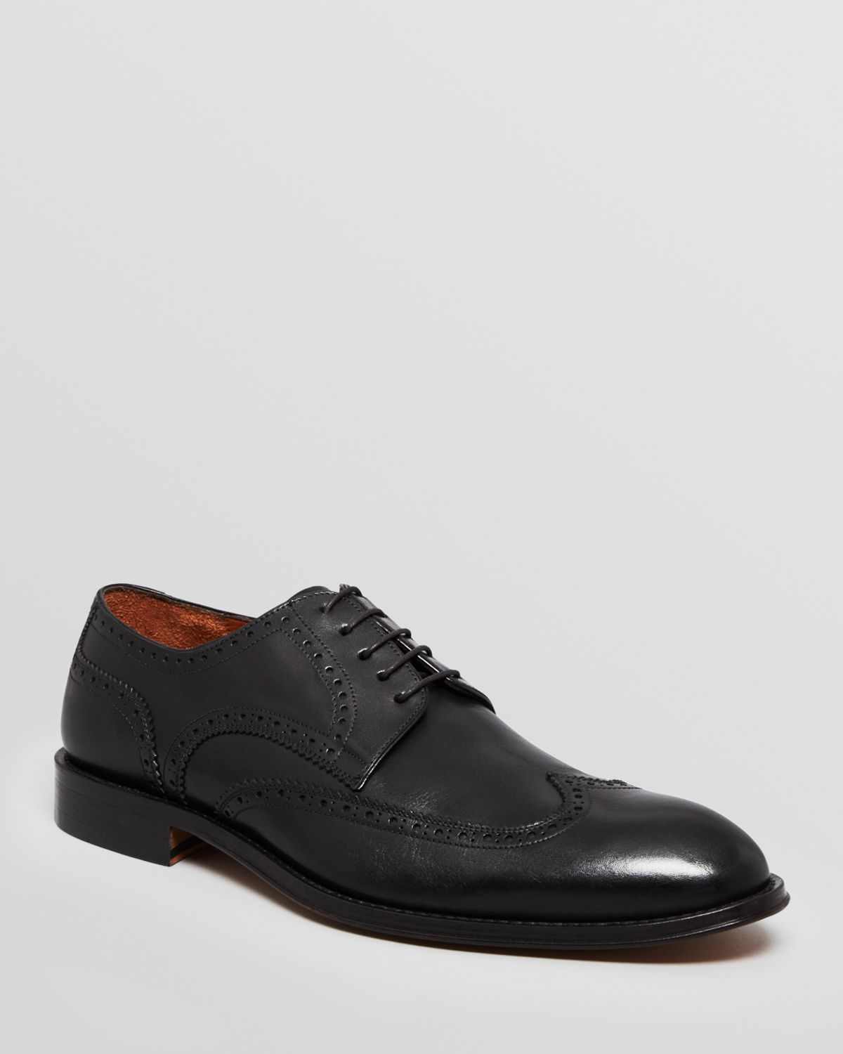 gordon leather wingtip dress shoes powell in black