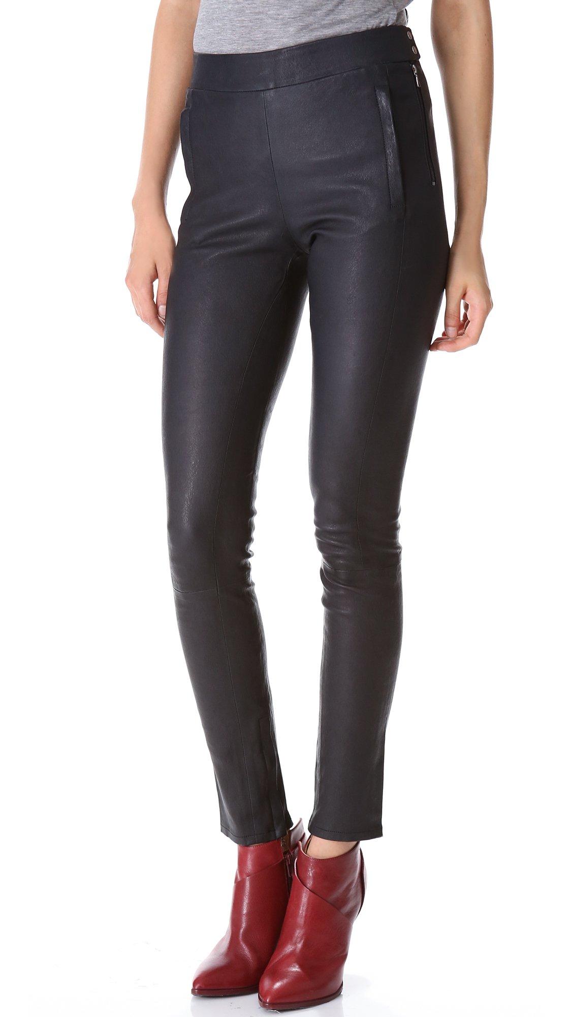 Lyst J Brand Morgan Leather Pants Alpine In Black