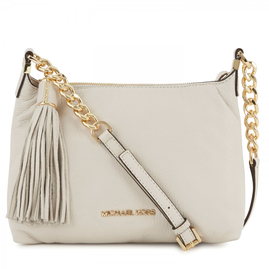 aca60e3daf21 ... promo code for michael kors weston grained leather crossbody bag in  natural lyst c6f4b 10648