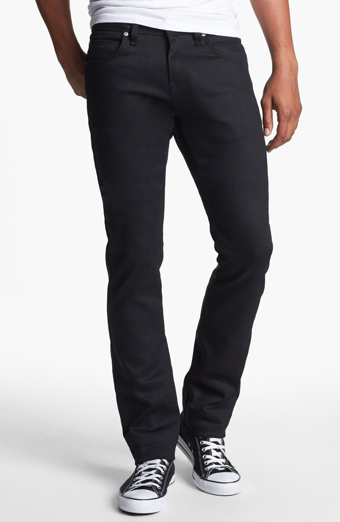 naked amp famous skinny guy skinny fit jeans in black for