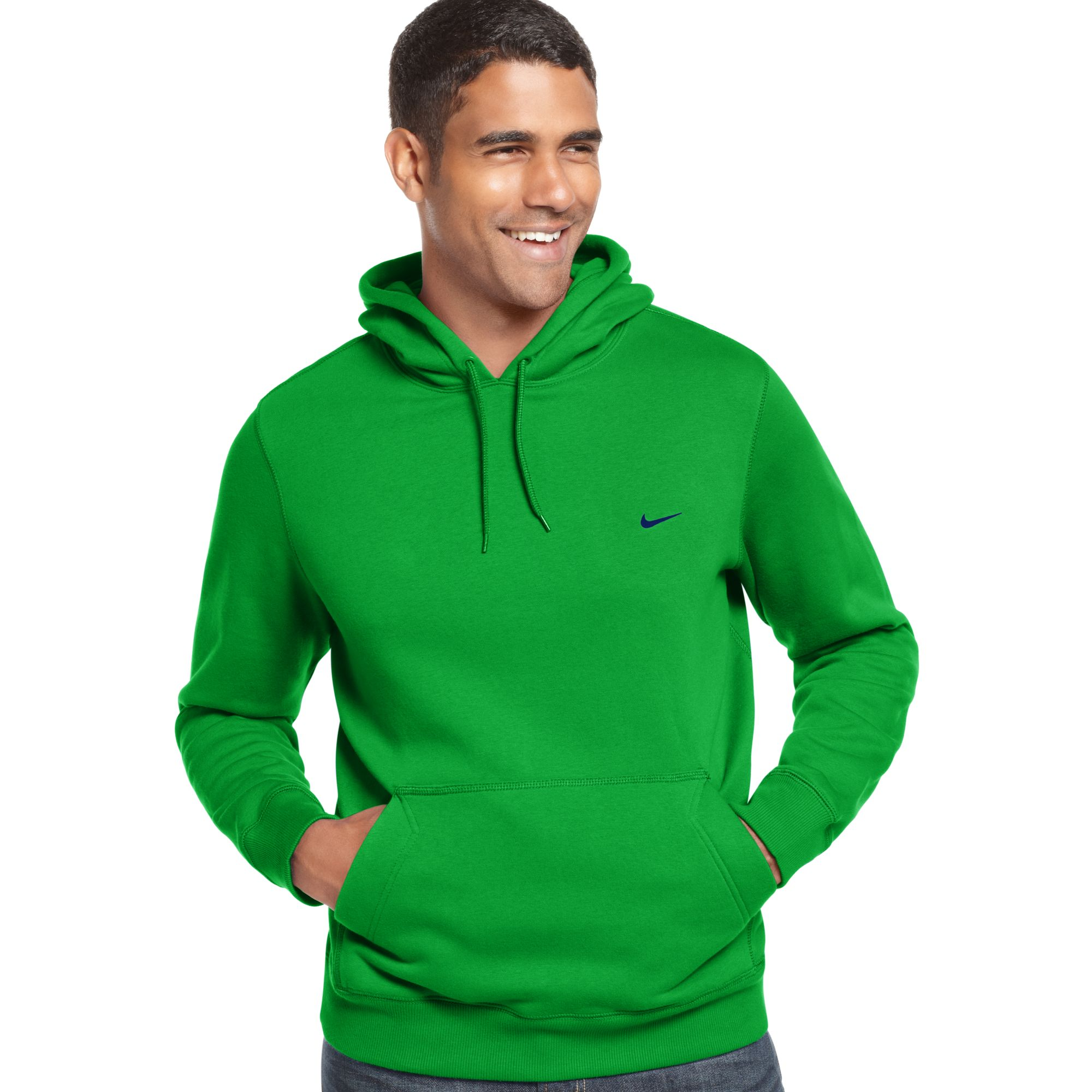nike classic pullover fleece hoodie in green for men. Black Bedroom Furniture Sets. Home Design Ideas