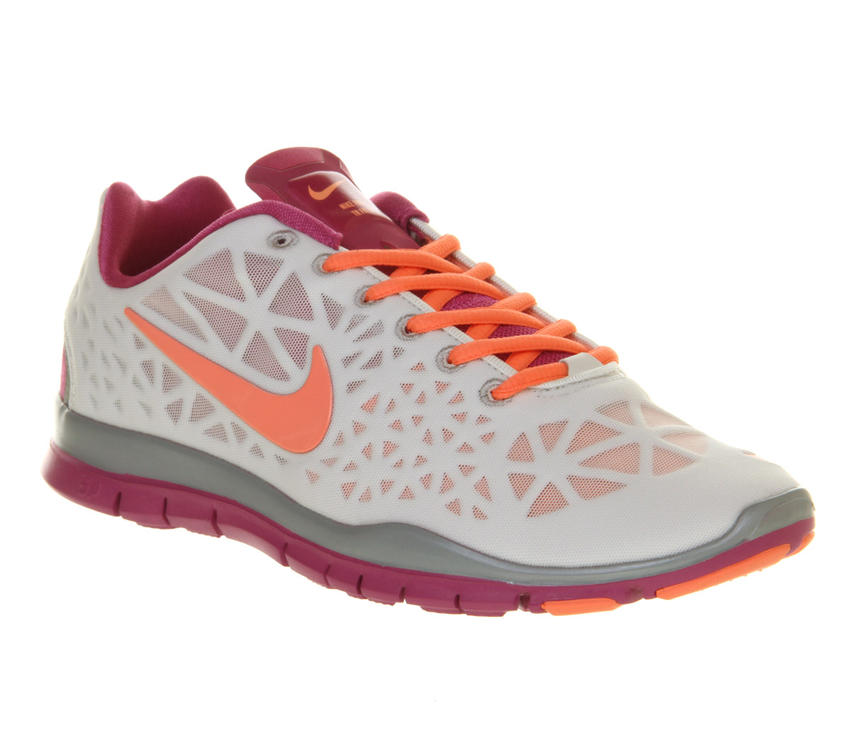 8c037fcbee43 Lyst - Nike Free Tr Fit 3 Summit White Atomic Pink in White