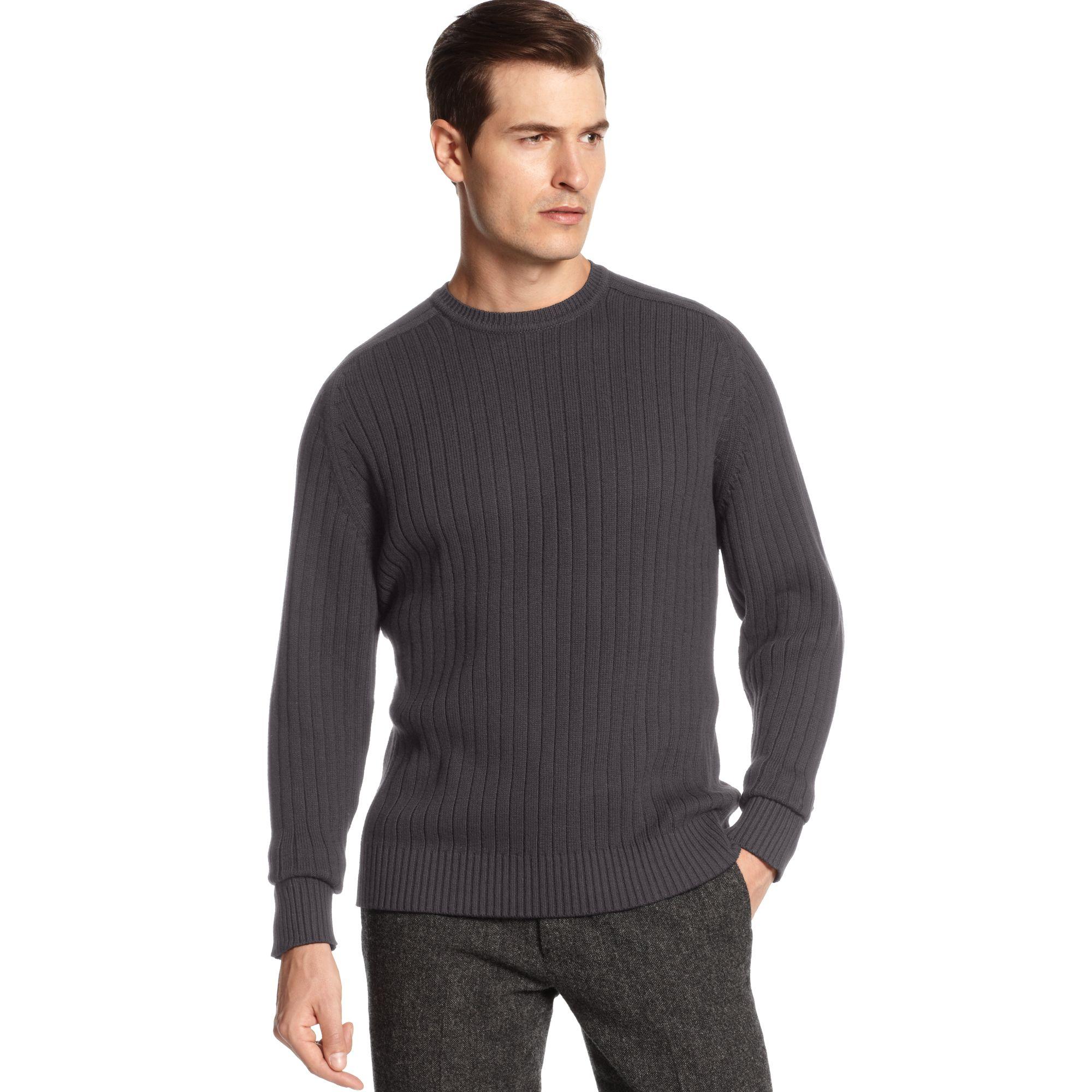 Oscar De La Renta Mens Sweater Sweater Grey