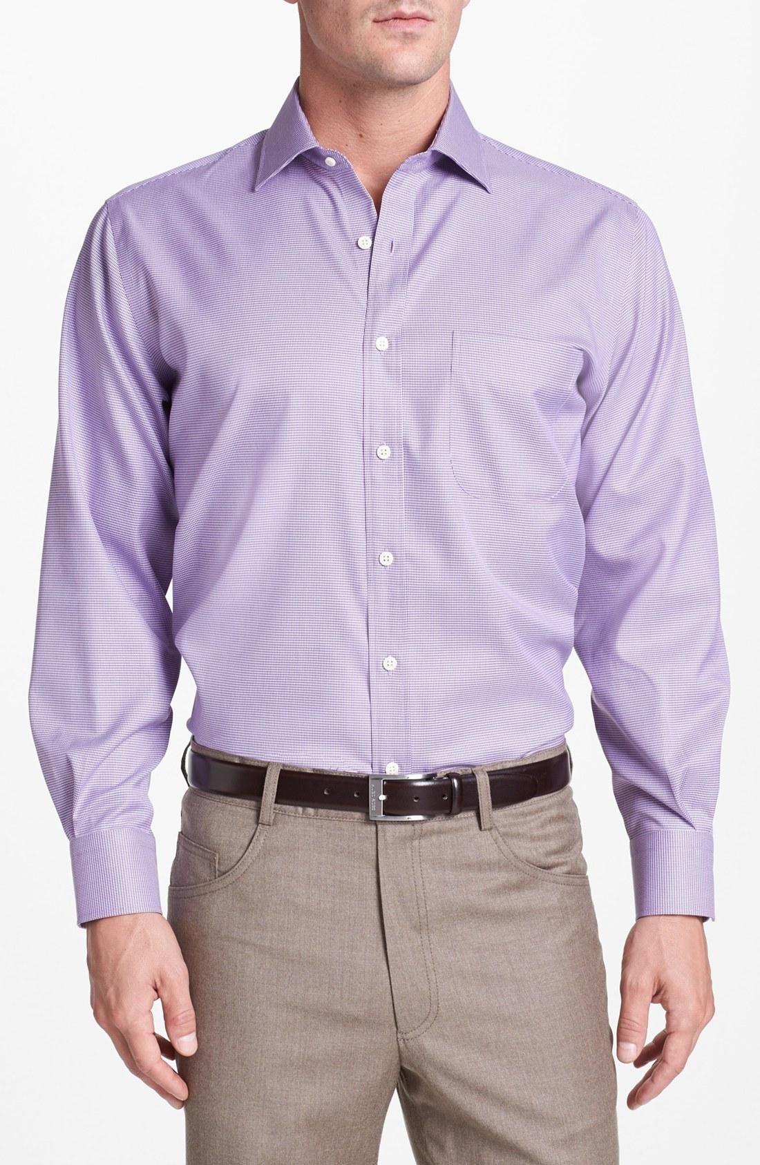 Peter millar regular fit sport shirt in purple for men for Royal purple mens dress shirts