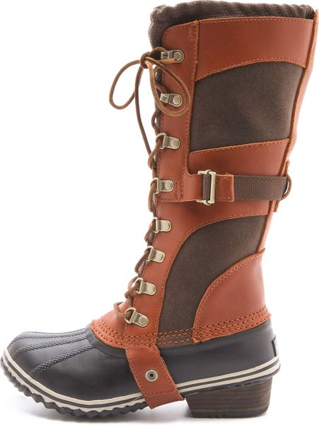 Sorel Conquest Carly Boots In Brown Cinnamon Lyst