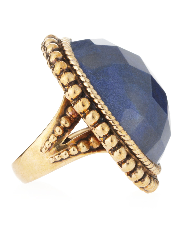 Lyst - Stephen dweck Oval Blue Aventurine Ring Size 7 in Blue