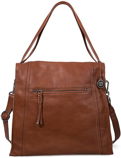 The Sak Miranda Leather Tote Bag in Brown (tobacco)