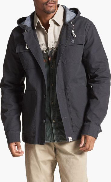 Vans Lismore Canvas Cotton Hooded Jacket In Gray For Men