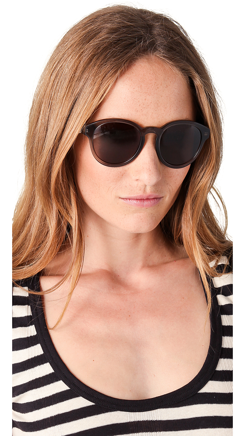 Preppy Sunglasses  alexander mcqueen preppy round sunglasses with skulls in black lyst