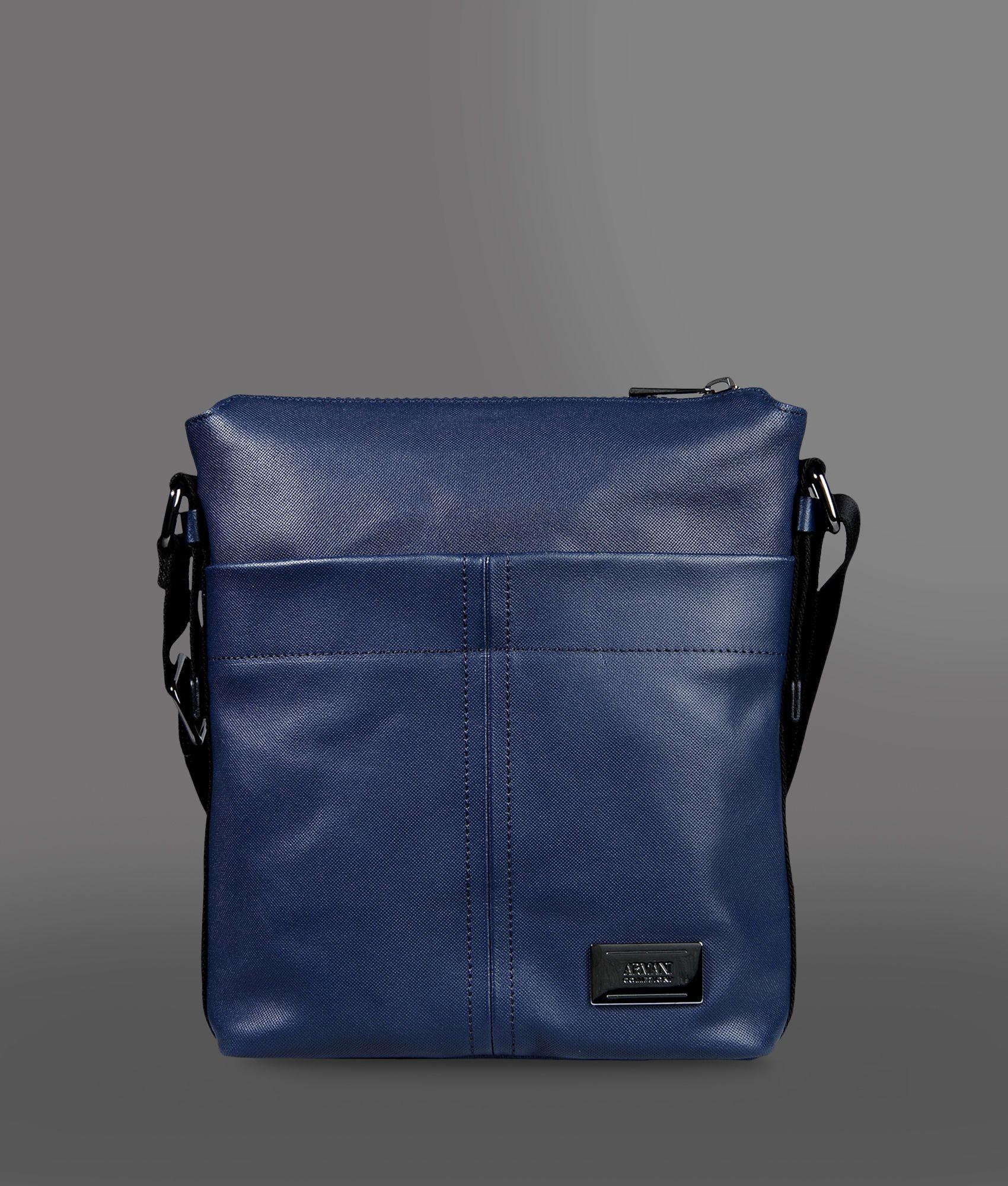 Armani Messenger Bag in Blue for Men | Lyst