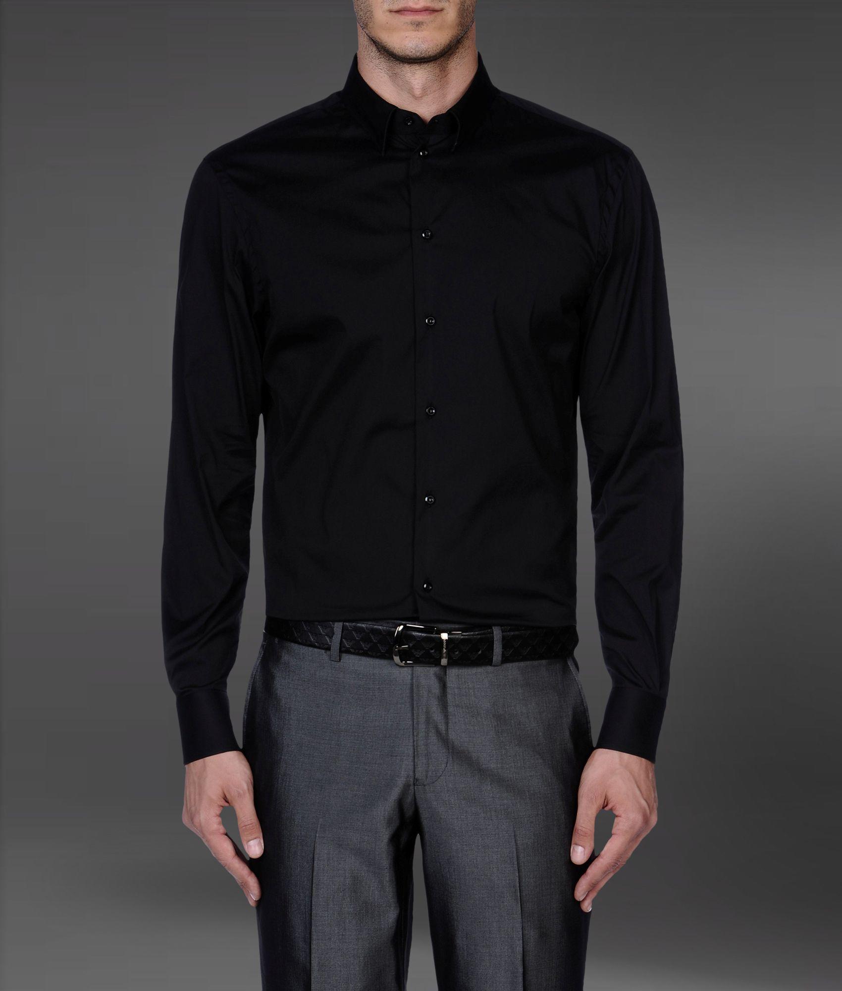 Sonderteil Weg sparen uk billig verkaufen Black Armani Shirts For Mens | Toffee Art
