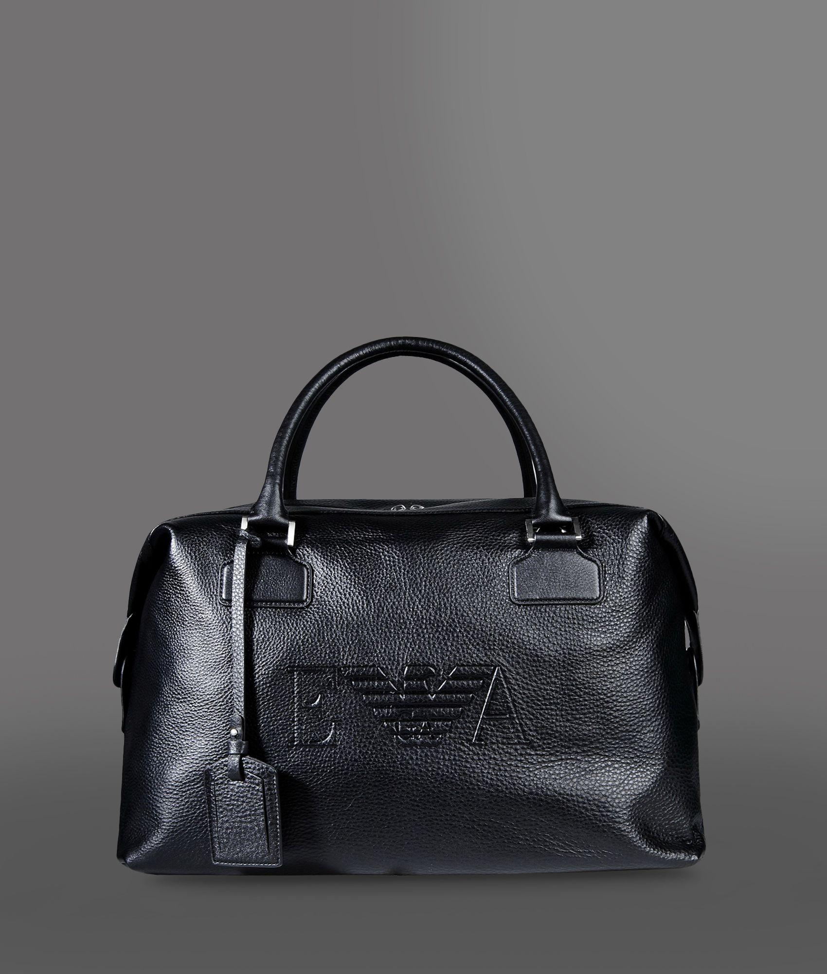 08cc40c7e4 Lyst - Emporio Armani Travel Bag in Black for Men
