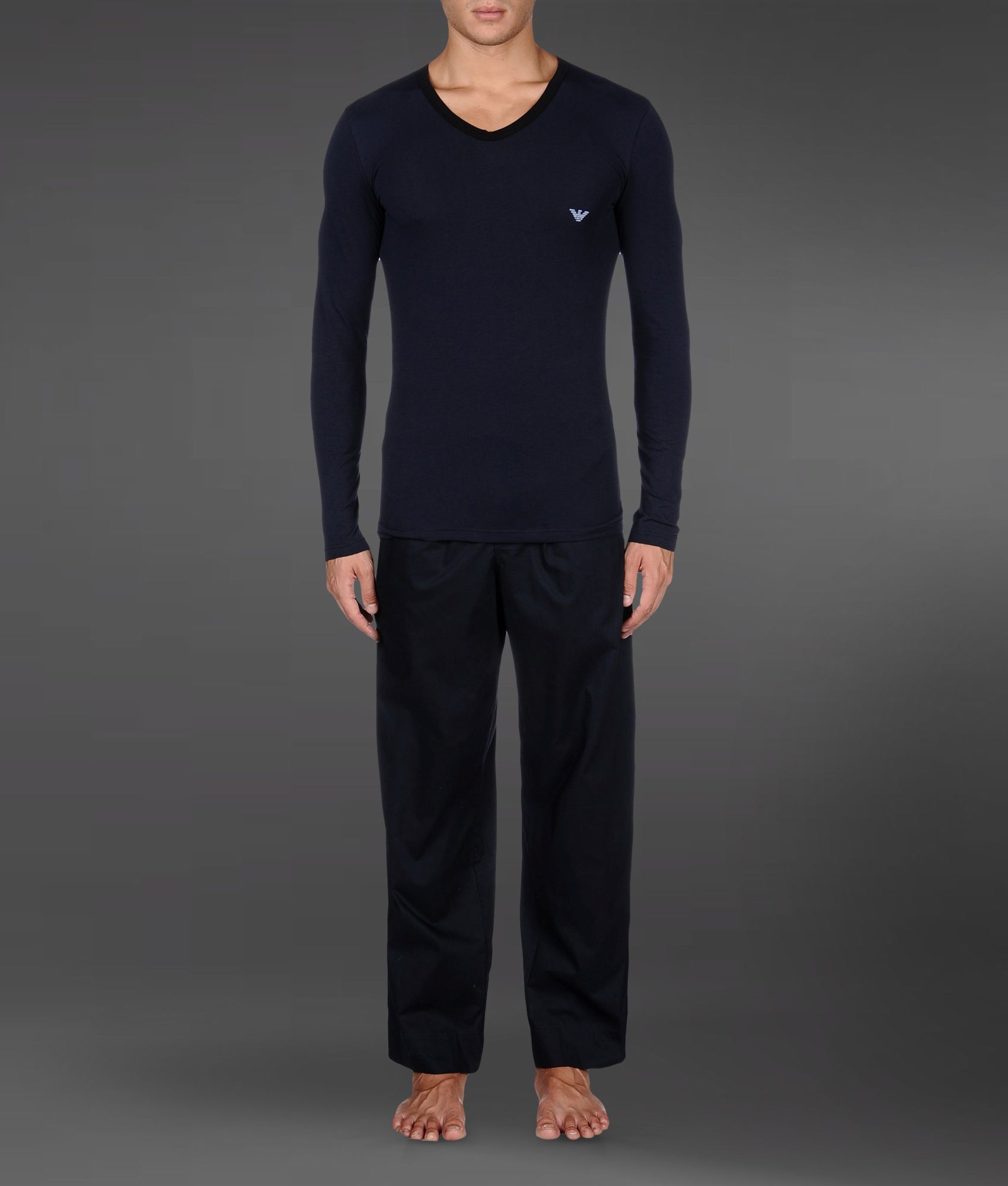 Emporio Armani Pajama In Blue For Men Dark Blue Lyst