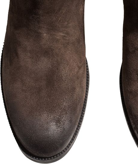 Lined Boots H&m H&m Suede Chelsea Boots in