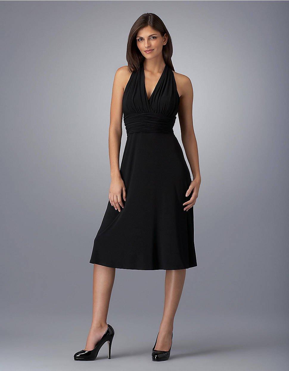 Jones new york Marilyn Empire-Waist Dress in Black   Lyst